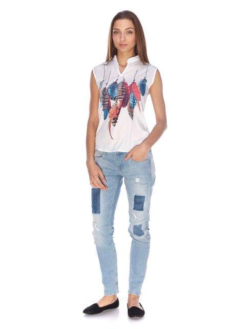 Джинси сині з ефектом потертих Pepe Jeans 3160307