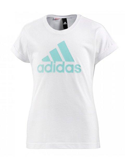 Футболка біла в принт Adidas 3694598
