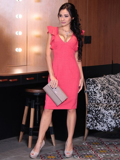 Сукня кольору червоний корал Dioni 3692780