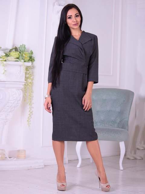 Сукня графітового кольору Dioni 3692787