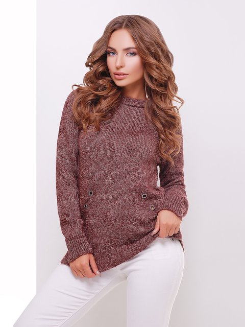 Джемпер бордово-коричневый MarSe 3698101