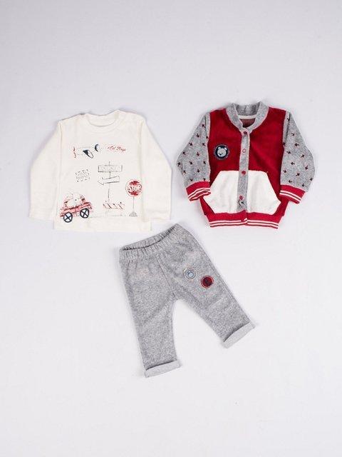 Костюм велюровий: кофта, реглан і штани Estella boys 3702281