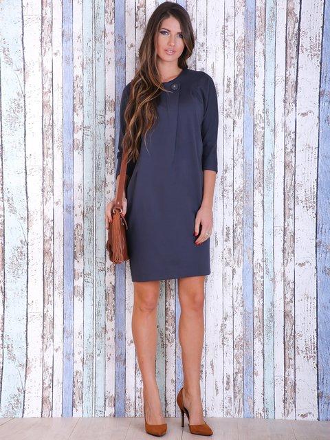 Платье графитового цвета Jet 3705663
