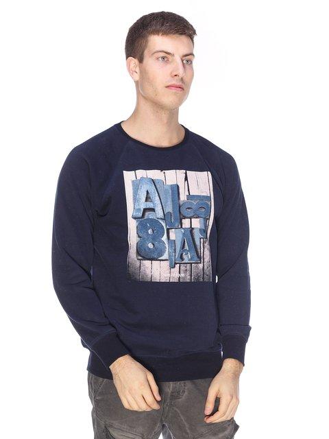 Світшот синій з принтом Armani Jeans 2813170