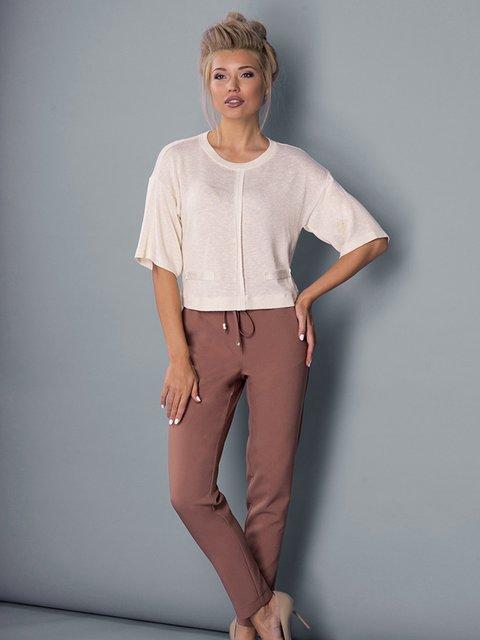 Блуза молочного кольору Lesya 3552994