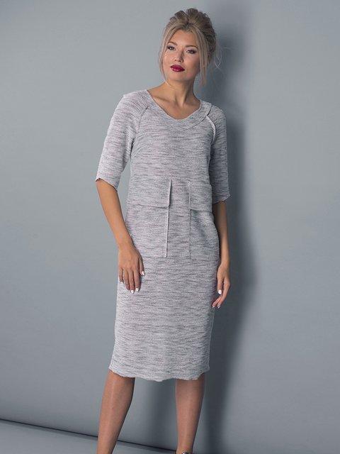 Платье серое Lesya 3553245