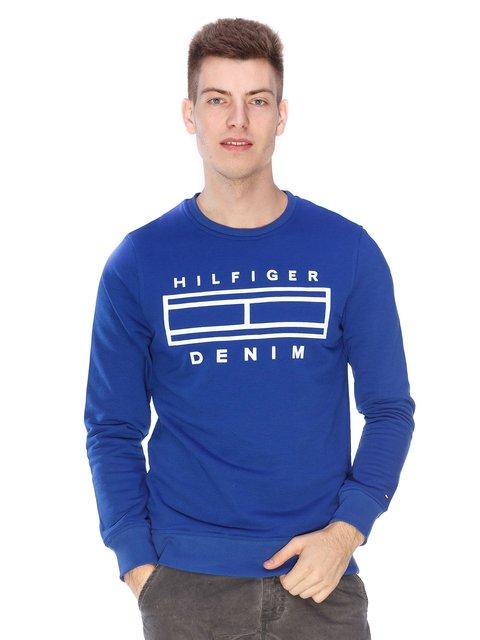 Світшот синій з принтом Tommy Hilfiger 3701612