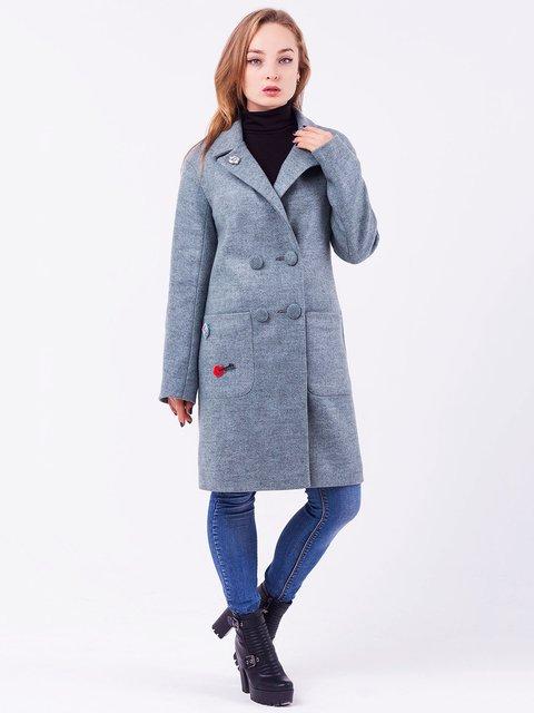 Пальто сіро-оливкове Leo Pride 3708560