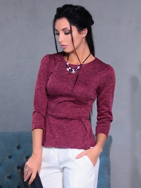 Блуза бордовая Victoria Loks 3709878