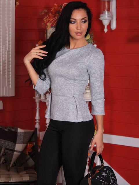 Блуза світло-сіра Victoria Loks 3709879