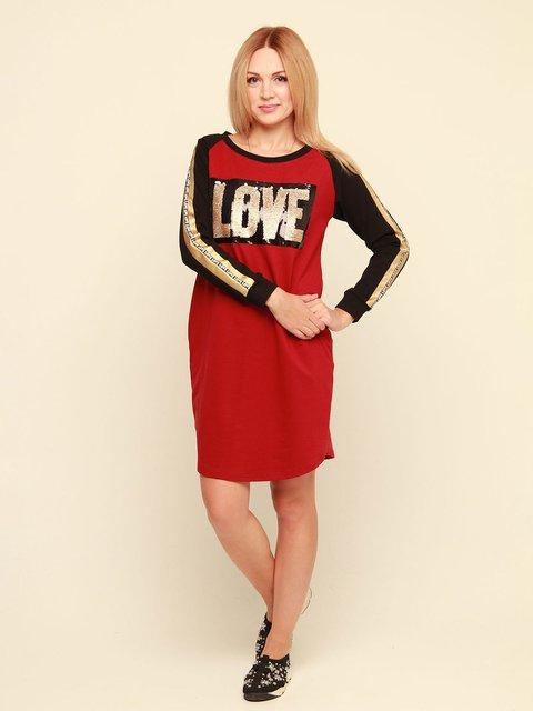 Сукня червона з принтом MOONLIGHT 3710814