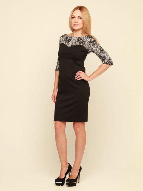 Платье черное с принтом MOONLIGHT 3710839