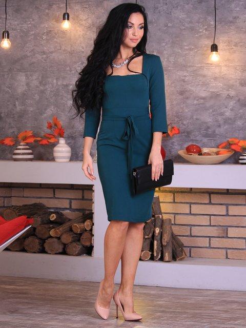 Платье темно-изумрудное Victoria Loks 3712985