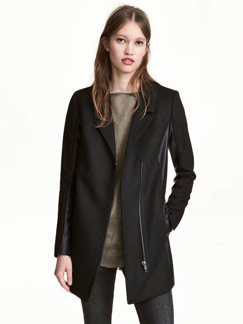 Пальто черное H&M 3639238