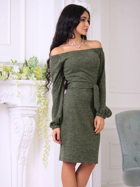 Сукня кольору хакі Laura Bettini 3717435