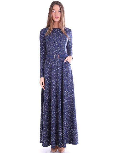 Платье синее в принт Jet 3717654