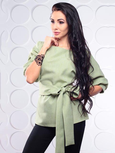 Блуза оливкового кольору Laura Bettini 3719833