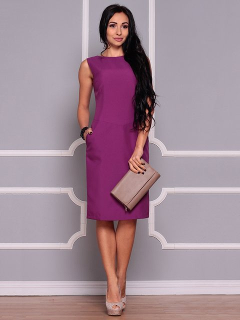 Платье темно-фиолетовое Laura Bettini 3719837