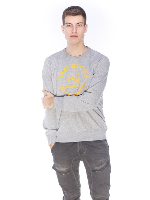 Світшот сірий з принтом Tommy Hilfiger 3718126