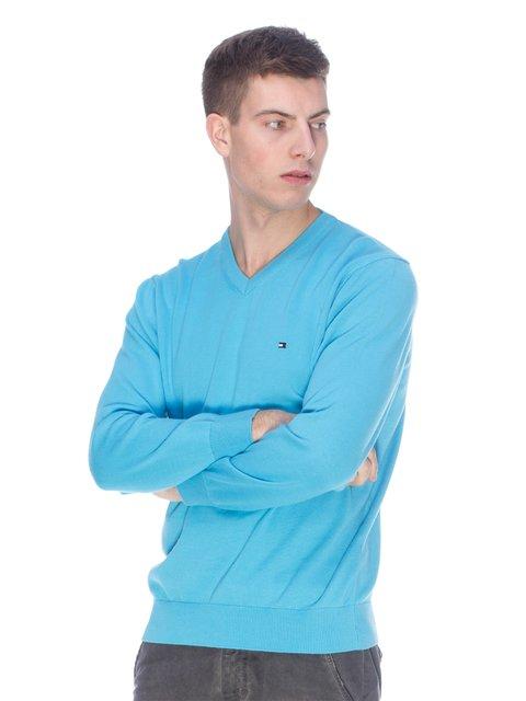 Пуловер блакитний Tommy Hilfiger 3718070