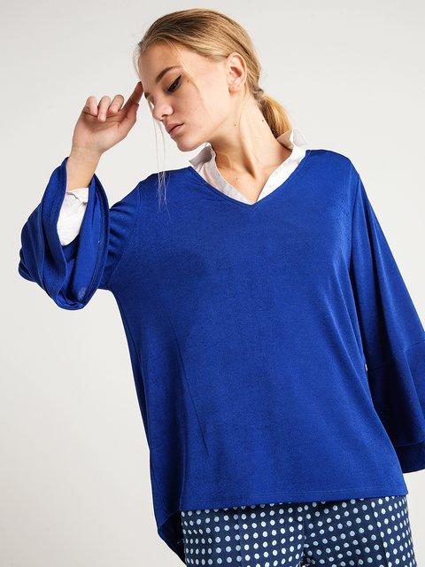 Блуза кольору морської хвилі BGN 3727265