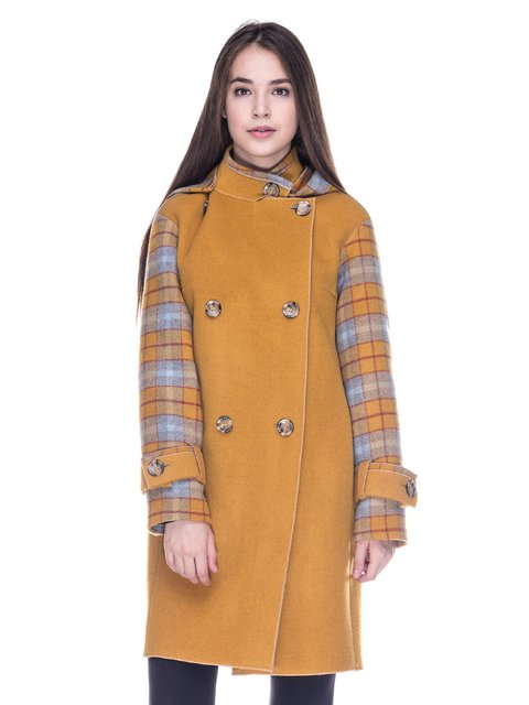 Пальто желтое Dolcedonna 3685767