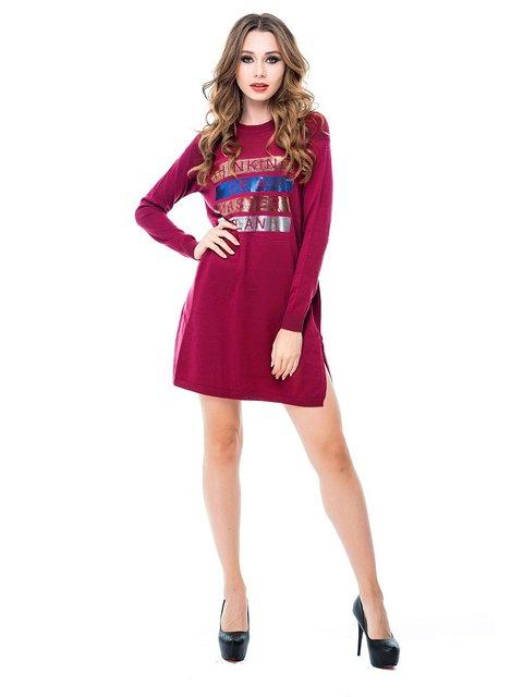 Сукня бордова з принтом Magnet 3688254