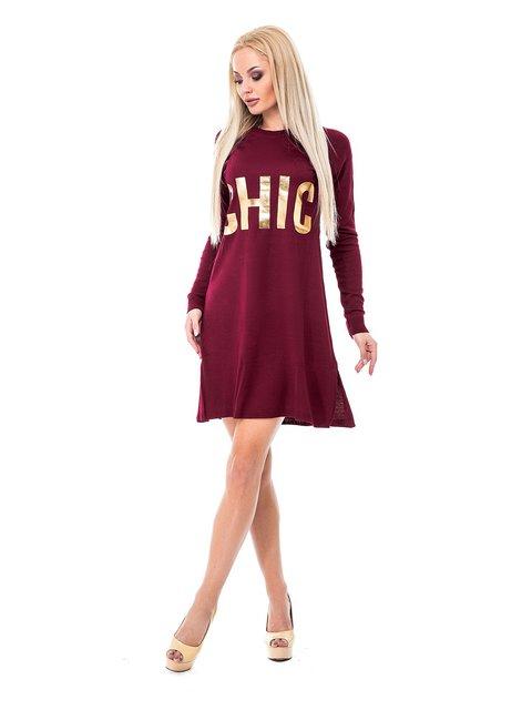 Сукня бордова з принтом Magnet 3688406