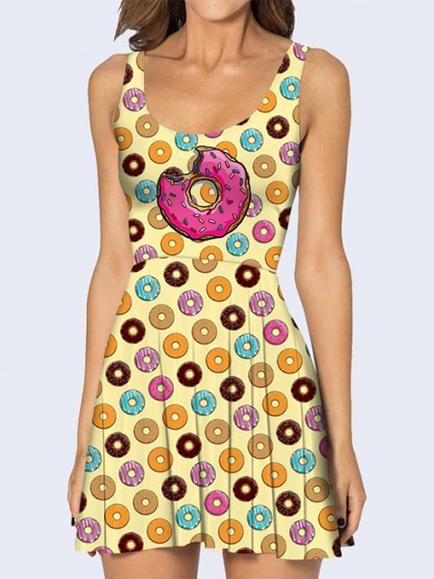 Платье желтое с принтом Vilno 3736930