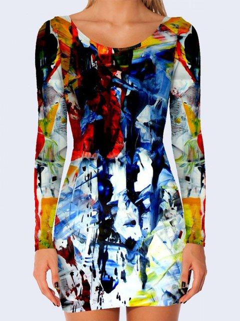 Платье абстрактной расцветки Vilno 3736939