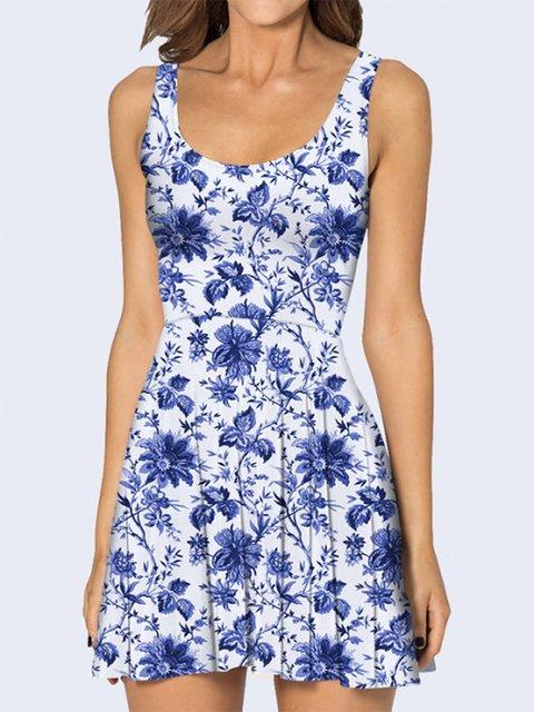 Платье белое с цветочным принтом Vilno 3736941