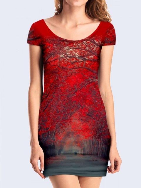 Платье с принтом Vilno 3736961