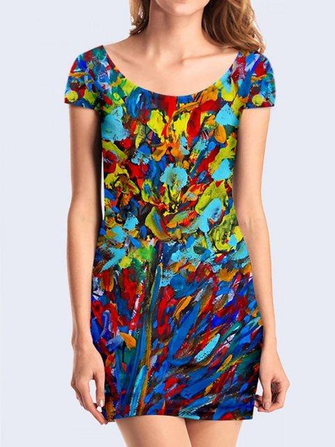 Платье абстрактной расцветки Vilno 3736983