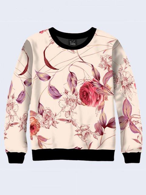 Свитшот с цветочным принтом Vilno 3737157