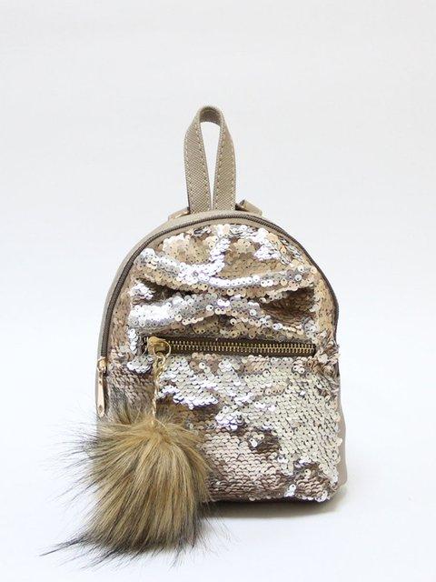 Рюкзак-міні кольору капучино Bags Bar 3704510