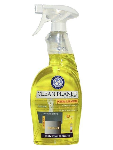 Жидкость для мытья стекол «Лимон» (750 мл) Clean Planet 3744645