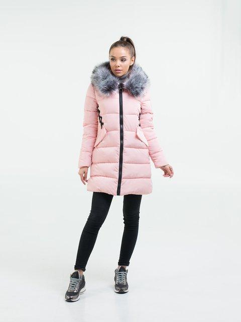 Пальто рожеве White Fox 3754641