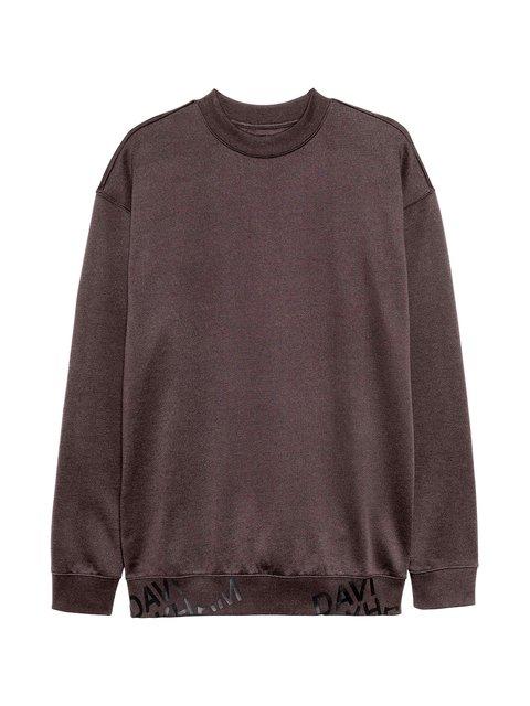 Свитшот темно-коричневый H&M 3652013