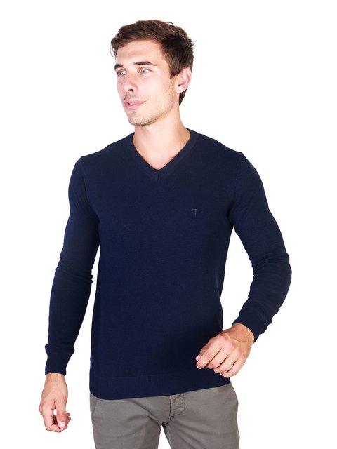 Пуловер темно-синій Trussardi 3748857