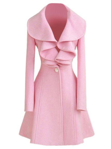 Пальто розовое Maxmore 3764873