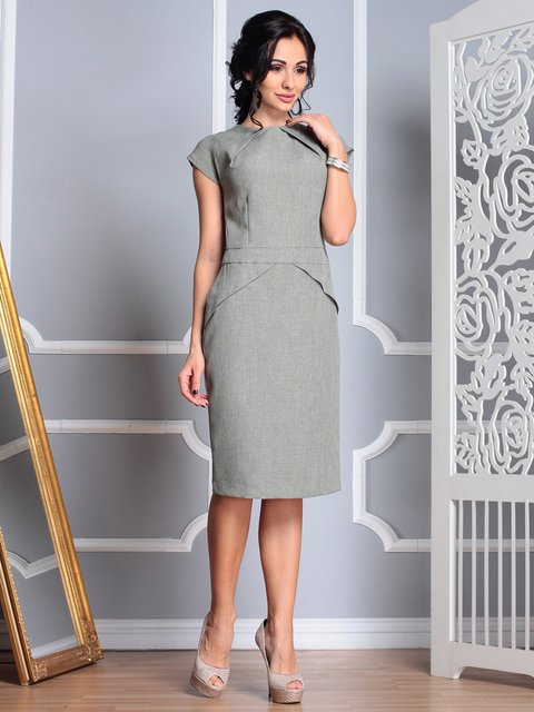 Сукня темно-оливкова Rebecca Tatti 3767772