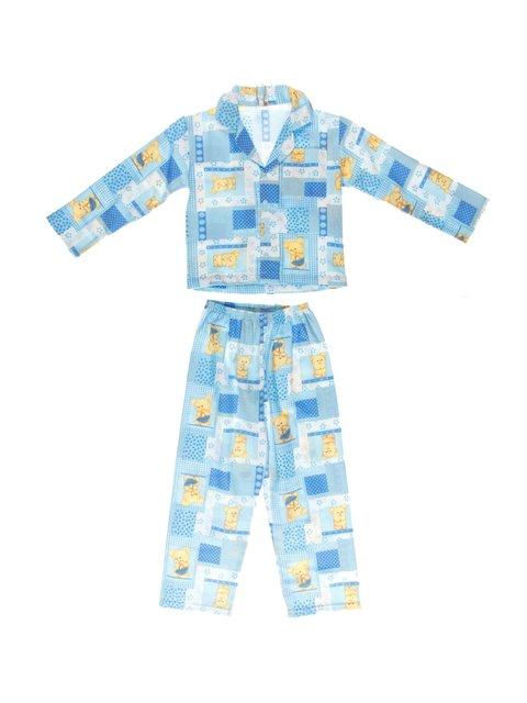 Піжама фланелева з начосом: кофта та штани PERRITO 3783119