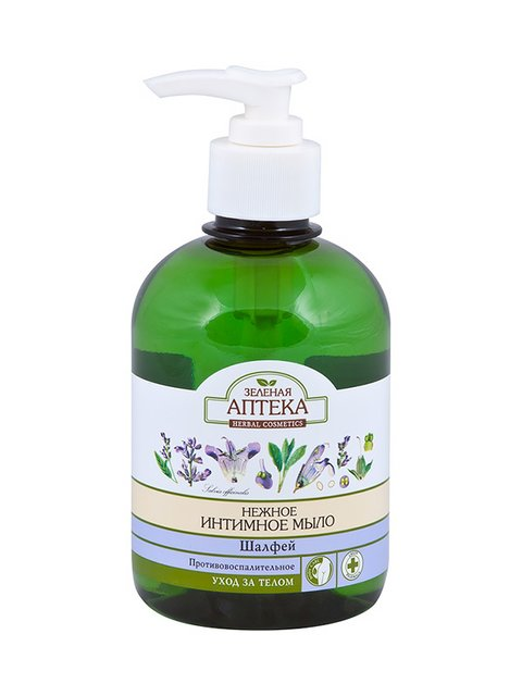 Мило рідке для інтимної гігієни «Шавлія»(370 мл) Зеленая аптека 1407062
