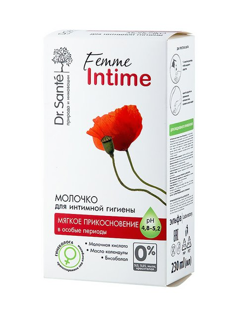 Молочко для інтимної гігієни «М'який дотик» для чутливої шкіри (230 мл) Dr.Sante 1653760