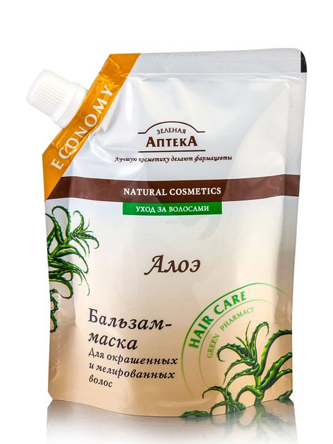 Бальзам маска для окрашенных и мелированных волос (200 мл) Зеленая аптека 1867161