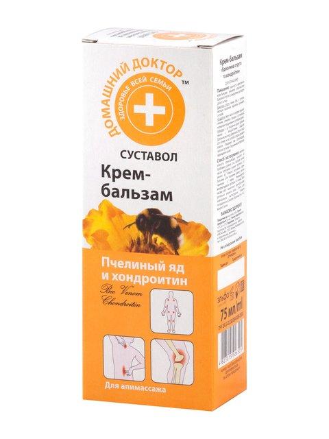 Крем-бальзам «Бджолина отрута і ходроїтин» (75 мл) Домашний Доктор 1925474