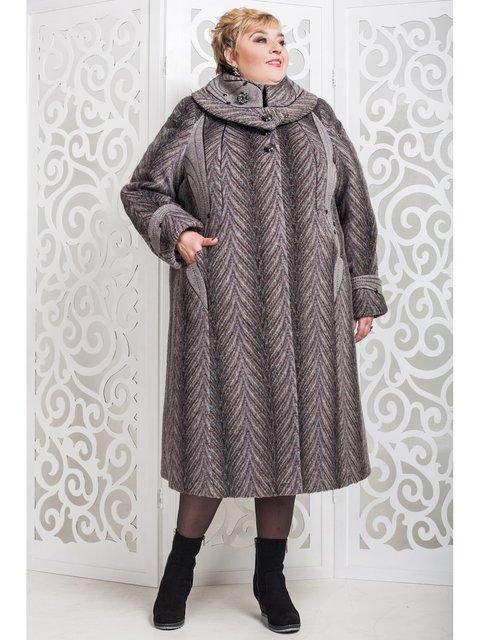 Пальто коричневе в малюнок Favoritti 3774461