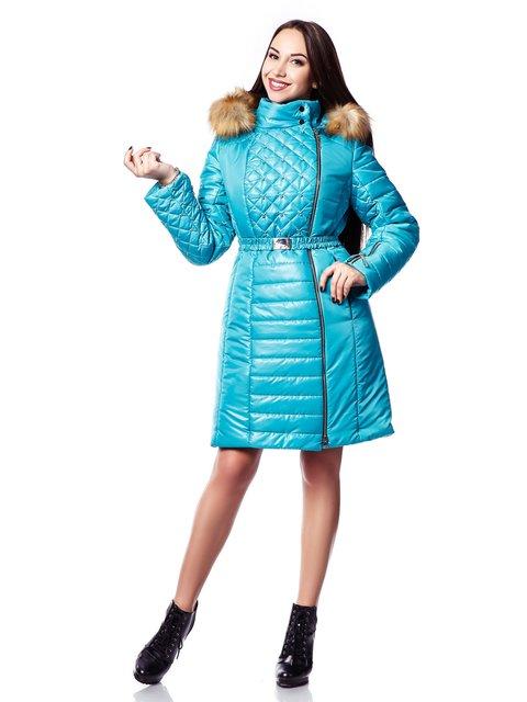 Пальто бірюзове Favoritti 3774536