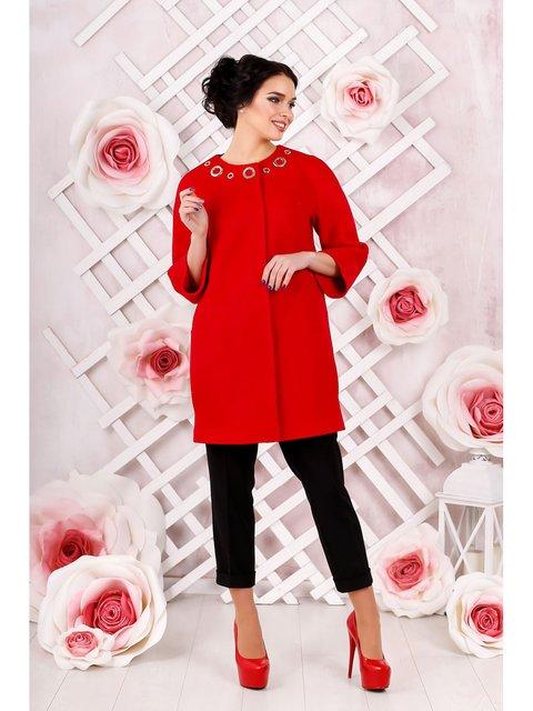 Пальто красное Favoritti 3774673
