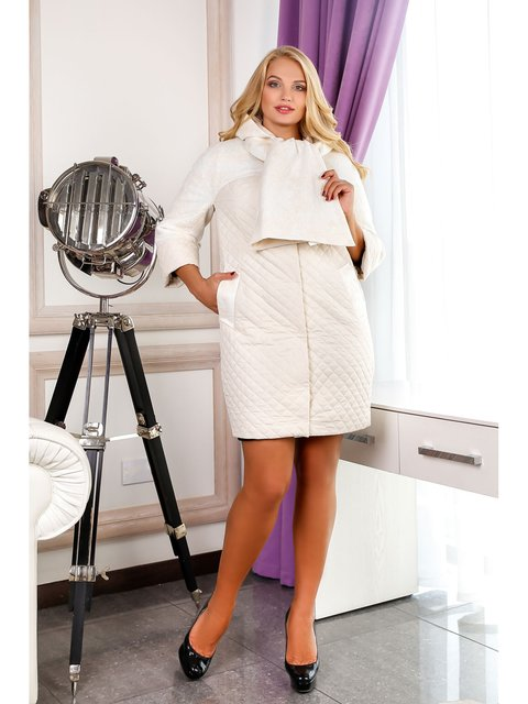 Пальто біле Favoritti 3774724